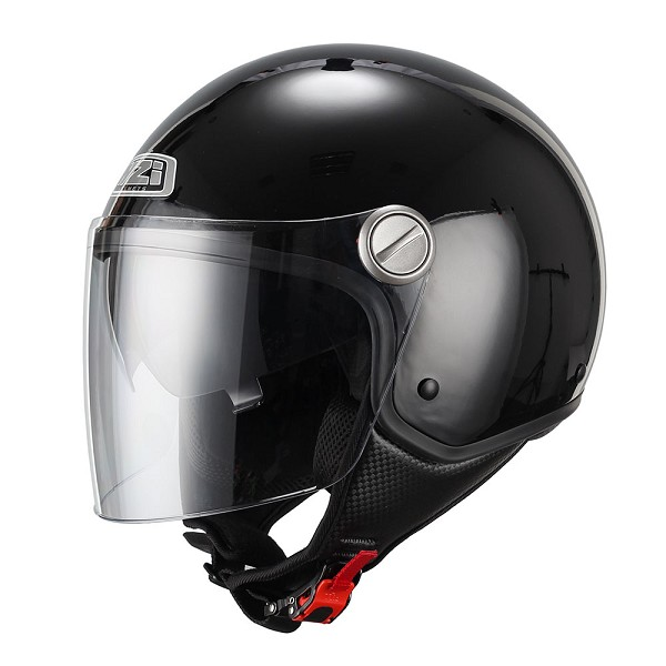 CASCO JET EN THERMOPLASTICO -NZI CAPITAL DUO NEGRO (BLACK)