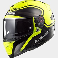CASCO INTEGRAL DE POLICARBONO - LS2 -FF390 BREAKER BOLD BLACK H-V YELLOW
